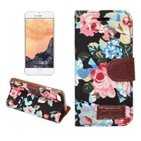 Wholesale Leather Womens Pouch Wallet - Womens Floral Flowers Wallet Style Leather Case for iphone 7 7 Plus 6 6s 6 Plus 6s Plus 5s SE S6 S7 100pcs lot