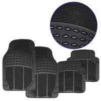 Wholesale rear floor mats - Universal 4PCS Car Floor Mats Rubber PVC Front mat Rear Mats for LHD AND LHD Car