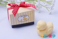 Wholesale Wholesale Baby Soap - Wholesale- 25pcs lot Wedding Gift Baby Birth Shower Favors Small Little Duck Soaps