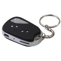 cámara de vídeo mini dv llavero al por mayor-Mini llave de auto cámara HD mini Voz grabadora de video llave de auto llavero DVR 909 mini videocámara DV en caja de venta minorista