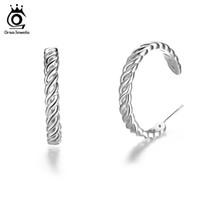 Wholesale Wholesale Wire Earring Hoops - Lead&Nickel Free Twist Wire Rose Gold Color Hoop Earrings Fashion White Brass Round Circle Earring for Women OE165