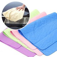 Wholesale Synthetic Chamois Cloth - 30*40 large multifunctional car cleaning towel deerskin cloth   PVA synthetic chamois absorbent copperdry hair