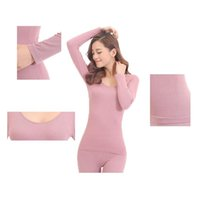Wholesale Thermal Set For Women - Wholesale- New 2016 Women Winter Thermal Underwear Women Clothing Thermal Long Johns For Woman Seamless Set Warm
