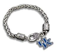 Wholesale Wholesale Wildcat Kentucky - New College Logo Charm University of Kentucky Wildcats Bracelet Jewellery for men or women