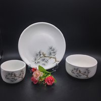 Wholesale Chinese style Ceramic Tableware Dinnerware Set and Ceramic Dinnerware can be high temperature health Dinnerware no1