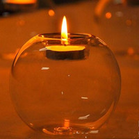 Wholesale Transparent Candle Holders - Spherical Glass Candlestick Transparent Exquisite Workmanship Fashion Tabletop High Quality Candle Holders The Most Cheap Hot Sell 3yr2 R