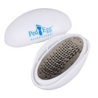 Wholesale Pedicure Files - Foot Care ABS+Stainless Steel Oval Egg Shape Pedicure Foot File Callus Cuticle Remover