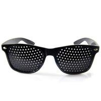 Wholesale Eyeglasses Holes - Anti-myopia Pinhole Glasses women men Pin hole Sunglasses Eye Exercise Eyesight Improve Natural Healing vision Care Eyeglasses