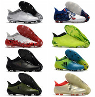 Wholesale Cheap White Shoes Gold Spikes - 2017 ace 17 + Purecontrol mens football soccer shoes X 16 Purechaos FG AG cheap soccer cleats authentic football boots original messi shoes