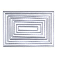 Wholesale Diy Scrapbook Decoration - ASLT 8pcs Scrapbook DIY album Card Paper Card Maker Metal Die cut Stencil Decoration Template Rectangle sewing thread 8.3x12cm