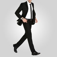 Cheap Men groom dress Best Pant Suit Lapel Neck Wedding dress