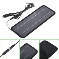 Wholesale Solor Chargers - HOT Sale! 4.5W 12V Solor Battery Charger For Cars Boat Motorcycle Etc Solar Battery Panel With Car Charger Free Shipping