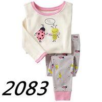 Wholesale Childrens Christmas Sleepwear - Free shipping 6 sets lot Girls Minnie Mouse long sleeve pajamas kids cotton pyjamas Childrens Cartoon sleepwear Girl's homewear Pants suit