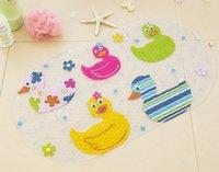 Wholesale Mat Duck - Wholesale- Bath Mat PVC Material Duck Design Non slip Mat Bathroom Free Shipping