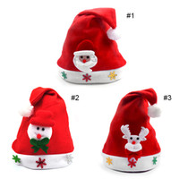 Wholesale Snowman Snowflakes - Kids Christmas Sale Santa Claus Snowman Elk Snowflakes Hats Navidad Natal Hat For Children New Year Gifts 0708060