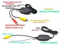 Wholesale Truck Reverse Camera Wireless - 2.4G wireless Car truck rearview PZ607W 7 inch digital LCD monitor Automatically work when reversing DC 12V 24V post
