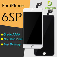 Wholesale Iphone Parts Free Shipping - Best AAA quality Lcd Display replacement for iphone 6s plus screen digitizer assembly repair parts white black color free shipping