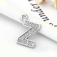 Moda Crystal Letter Z Heart Flutuante Charm para Glass Living Meme Locket Jewelry Findings Components