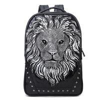 32c8474ce0 Wholesale 3d lion backpack for sale - 2017 New fashion D Lion head pattern  man women