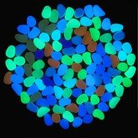 steinlehm großhandel-Künstlicher leichter leuchtender Kiesel-Stein für Hauptaquarium-Dekor-Garten-Korridor-Dekorationen 1000pcs Freies Verschiffen