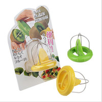 Wholesale kiwi peeler resale online - 7cm Mini Fruit Kiwi Cutter Peeler Slicer Green Yellow Kitchen Gadgets Tools for Pitaya Fruit Tools Random Color DHL