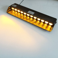 12 LED d'avertissement d'urgence Traffic Advisor Strobe de véhicule LED Flash Light Bar Amber