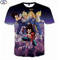 Wholesale Tshirt Tops For Kids - Mr.1991 Newest Japanese cartoon anime 3D t-shirts for boy's Dragon Ball kong fu t shirt teens big kids tshirt children tops A17