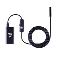 endoscopio wifi hd al por mayor-WiFi Endoscopio 8mm HD 720P 6 led Resistente al agua WIFI Inspección Cámara Boroscopio Para Andorid y IOS Smartphone Tablet PC Windows