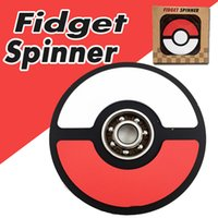 Wholesale pokemon toy balls - Silicone Material Fidget Spinner Poke Ball Hand Spinner Captain America Hand Spinners Decompression Finger Toy EDC Fingertip Toy