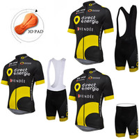 Wholesale Bicycle Bh - Direct Energie BH ALE 2017 Short Sleeves Cycling Jerseys With Bib None Bib Shorts MTB Ropa Ciclismo Bike Wear Size XS-4XL Bicycle Clothing