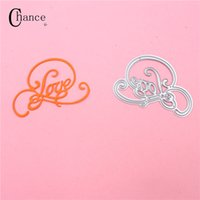 Wholesale Crafts Photo Album - Love Design Cutting Dies Stencils Template for DIY Scrapbooking Card Photo Album Painting Embossing Decor Metal Crafts