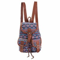 Wholesale Wind Shops - Wholesale- Backpack Women National Wind Printing Drawstring Backpacks Shopping Bag Travel Fashion bag Rucksacks Schoolbag for teenage girl