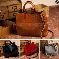 Wholesale Small Messenger Satchel - Cowhide Shoulder Bags Fashion Aslant Bag Leather Laptop Bags Vintage Shopping Bag Handbag Messenger Bag Crossbody Satchel Bags New B1469