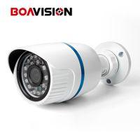 Wholesale Hd Webcam Onvif - Mini Security CCTV HD outdoor IR Bullet POE IP Camera 1.0 Megapixel 3.6mm Lens ONVIF Optional Bullet Webcam Work CCTV NVR