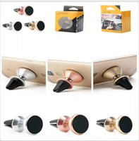 Wholesale universal car holder smart phone online – Universal Rotate Magnetic Metal Air Vent Car Mount Stand Magnet Holder Degree For Phone iphone Galaxy S8 Smart mobile