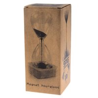 black sand hourglass - Bestselling Magnet Hourglass Awaglass Hand blown Sand Timer Desktop Decoration Magnetic Hourglass Black