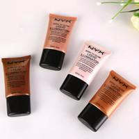 gesichtscremes machen großhandel-NYX Flüssige Foundation Gesicht Concealer Make-up Geboren, Glow Liquid Illuminator BB Creme Make-Up Powder Kosmetik Hautpflege 18 ml
