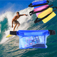 große taillenbeutel großhandel-Wasserdichte große Waist Case Cover für iPhone 6 6 s 7 7 plus Samsung s7edge S8 plus Unterwassersporttasche 21,5 * 15 cm