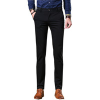 Wholesale Good Dress Pants - Wholesale- Wedding Dress 2017 Brand New Suit Pants Men Good Quality Mens Dress Pants Straight Formal Male Trousers