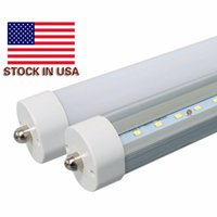 Wholesale T8 Lights Discounted - BIG DISCOUNT ! US STOCK 8 feet led 8ft single pin t8 FA8 Single Pin LED Tube Lights 45W 4800Lm LED Fluorescent Tube Lamps