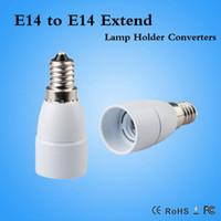 Wholesale E14 Extend - E14 to E14 Extend Lamp Holder Base Bulb Socket Adapter Converter Halogen LED Light Adapter Converter