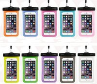 Wholesale plastic waterproof pouches resale online - Dry Bag Waterproof case bag PVC Protective universal Phone Bag Pouch With Compass Bags For Diving Swimming For smart phone many colors