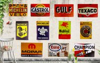 Wholesale Metal Signs Tin Signs for GAS Oil Man Cave Garage Service Station iron Paintings Wall Decor