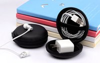Wholesale Bag Sends Tools - 9*4cm round Fidget Spinner Pouch Hand Spinner Toys Live Storage Bags key phone cable USB CD card storage bag sent DHL