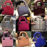 Wholesale Real Snake Skin Bag - top quality real luxury snake skin women party handbag ,mini size 17cm party shoulder bag, original quality women bags free shipping