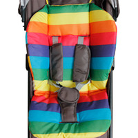 Wholesale Rainbow Car Mats - Wholesale- hot waterproof baby Stroller Cushion Stroller Pad Pram Padding Liner Car Seat Pad Rainbow general cotton thick mat