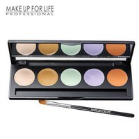 Wholesale Good Face Foundation - Cosmetics makeup For face Concealer Cream Foundation Good cover and Waterproof Longlasting 5 Color Concealer palette