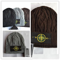 Wholesale Hot Island - Wool hat knitted hat, winter snow ski hot island St Cap occasional skull caps for men and women