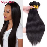 Wholesale Mongolian Remy Lace Frontal - Daily Deals B2B wholesale Remy Hair Extensions Straight Brazilian Human Hair Weave Bundles with Lace Frontal Closure 3pcs+4x4 Weaves closure