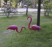ingrosso flamingos di plastica-Flamingo scultura Giardino paesaggio simulazione artigianato Giardino Cortile Scenario Decorazioni Plastica cemento Accessori per matrimoni Hot